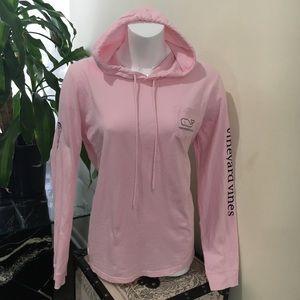 Vineyard Vines lacrosse pink hoodie L